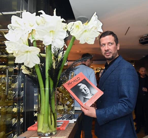 Актер Андрей Мерзликин на гастрономическом ужине Анатолия Казакова и Расмуса Кофоеда в ресторане Selfie