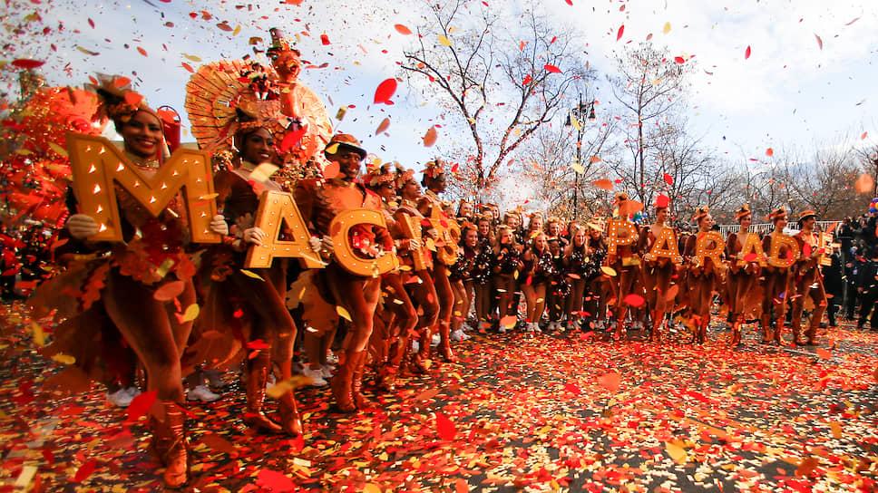 Участники парада в честь Дня благодарения в Нью-Йорке