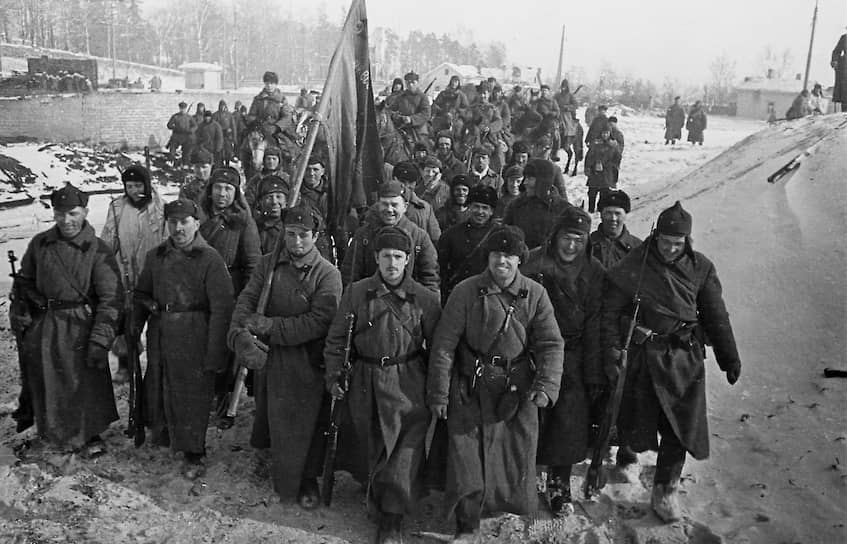 Части Красной Армии вступают в Выборг, 1940 год