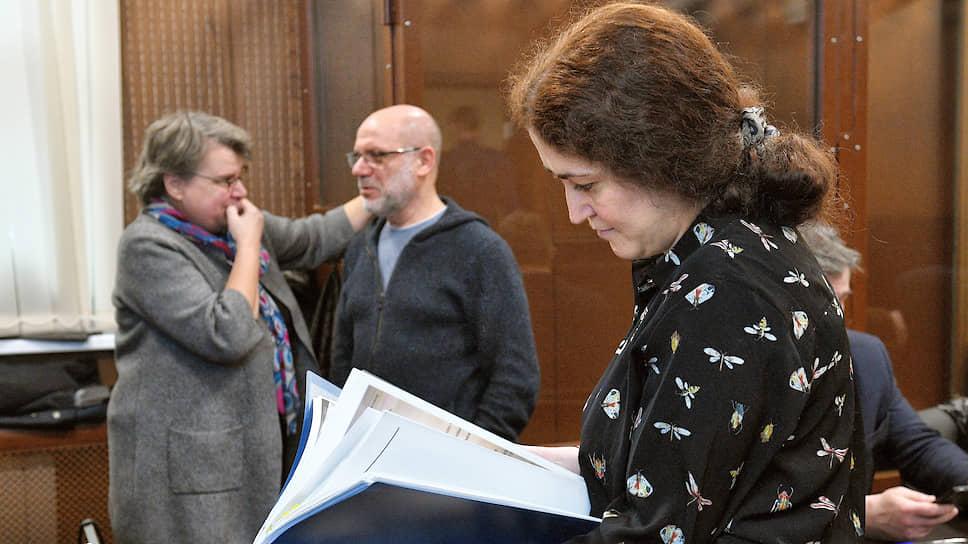 Обвиняемая по делу «Седьмой студии» Софья Апфельбаум (на переднем плане)