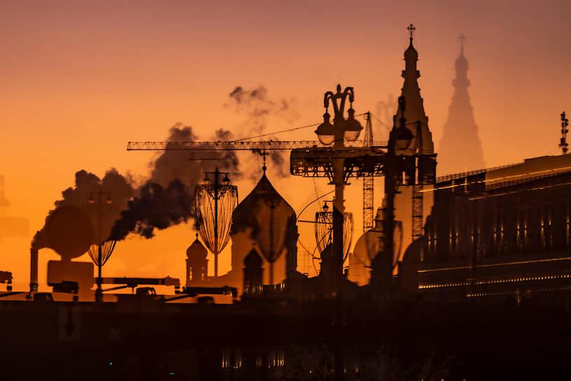 Москва. Вид на вечерний город
