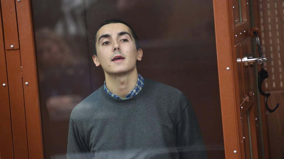 Участник несанкционированной акции 27 июля в Москве Владимир Емельянов