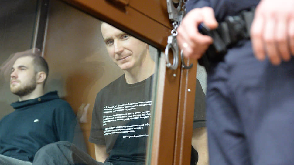 Осужденные по «московскому делу» Максим Мартинцов (слева) и Егор Лесных
