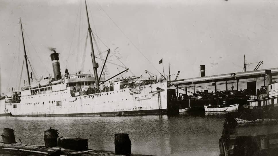 Грузовой пароход «Бафорд» в заливе Галвестон