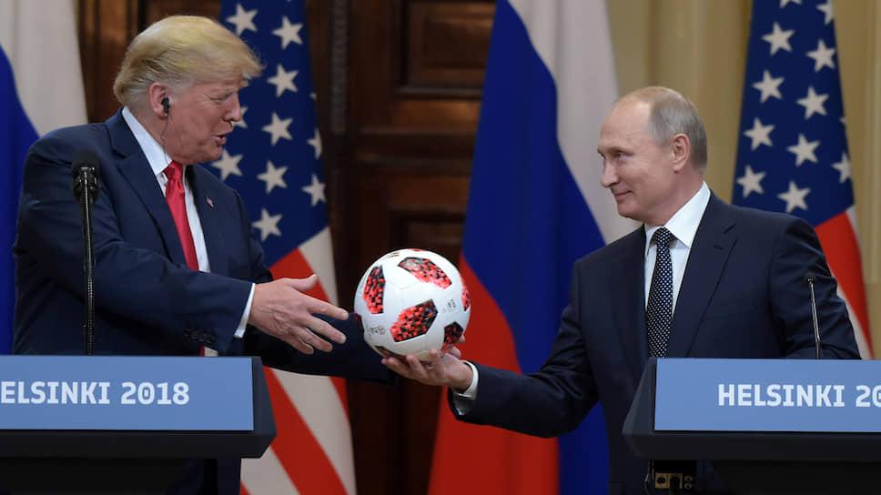 Президент США Дональд Трамп (слева) и президент России Владимир Путин (справа)