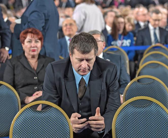 Министр юстиции России Александр Коновалов перед началом выступления Владимира Путина