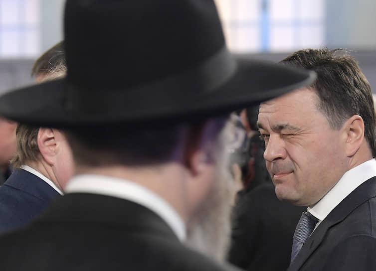 Губернатор Московской области Андрей Воробьев (справа)