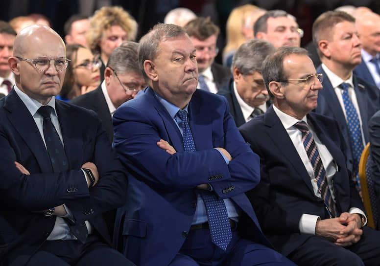 Гендиректор Большого театра Владимир Урин (в центре) во время оглашения Послания