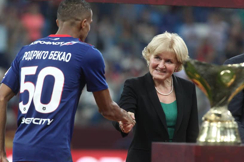 Вице-премьер Ольга Голодец на матче за Суперкубок России по футболу