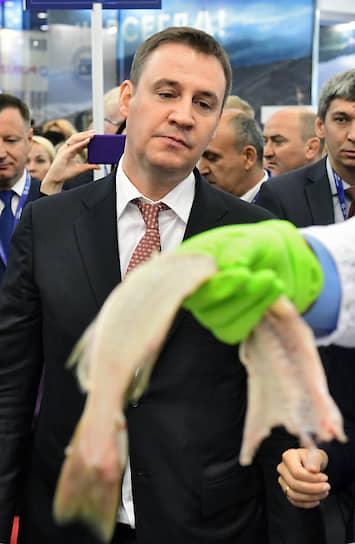 Министр сельского хозяйства Дмитрий Патрушев на II Международном рыбопромышленном форуме