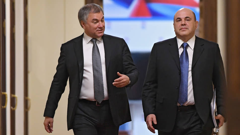 Рано утром Михаил Мишустин прибыл в здание Госдумы, где первым делом провел встречу со спикером нижней палаты Вячеславом Володиным