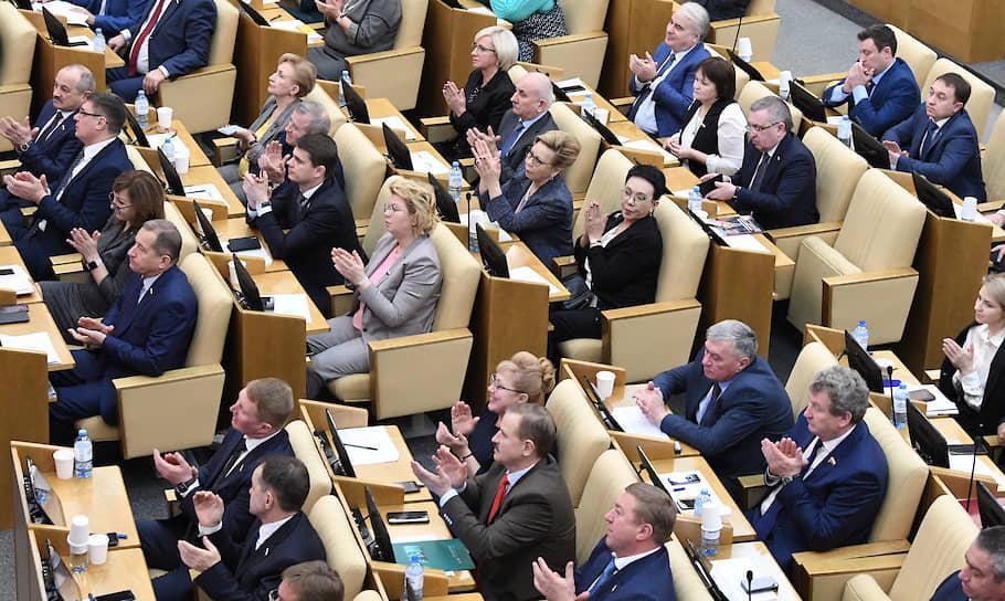 Депутаты Госдумы поздравили Михаила Мишустина с утверждением на пост председателя правительства