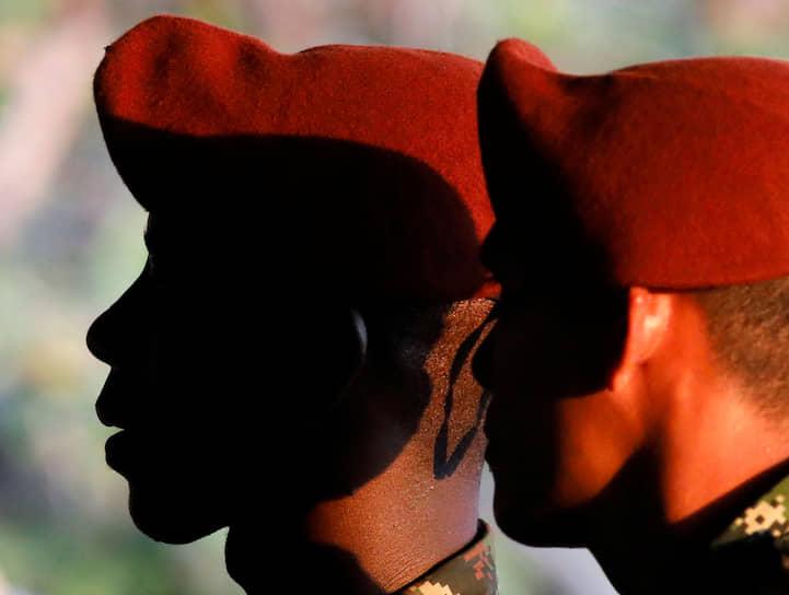 Толемайда, Колумбия. Бойцы спецназа после совместных учений с американскими военными