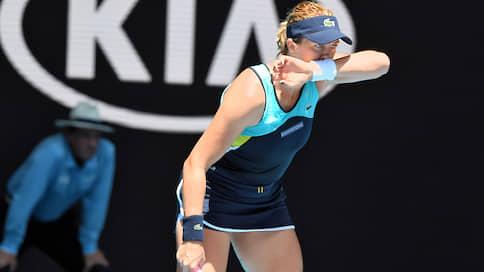 «В прошлом году подумывала о завершении карьеры»  / Анастасия Павлюченкова — о выступлении на Australian Open