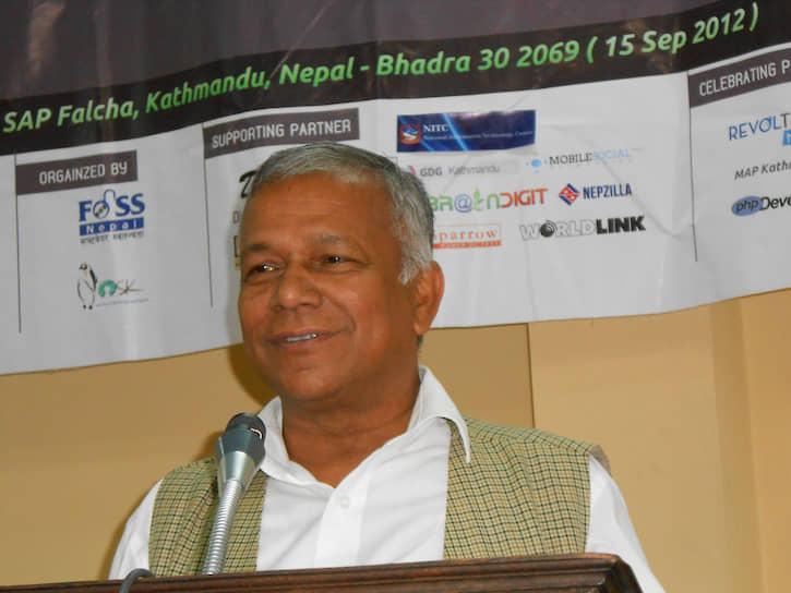 <b/>Ганеш Шах</b> ― министр по вопросам окружающей среды, науки и технологий Непала. Основатель и генсек  Федерации профсоюзов Непала (1996-2005) <br>Выпускник инженерного факультета УДН 1973 года