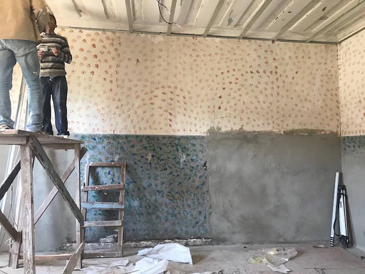 Одно из помещений психиатрической больницы в Сурами до реконструкции