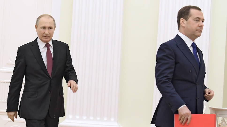 Президент России Владимир Путин и замглавы Совбеза РФ Дмитрий Медведев