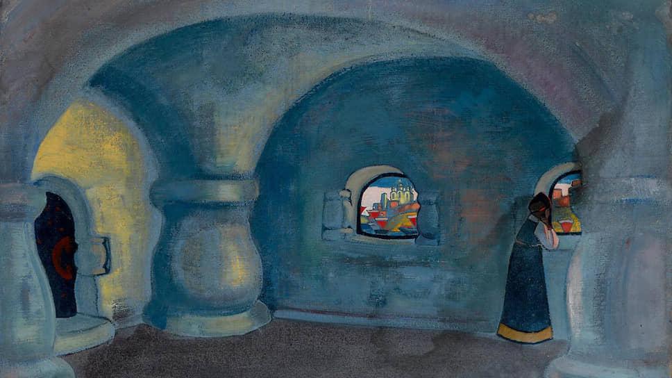 Николай Рерих. «Горница в доме Садко». Эскиз декораций к «Садко» в театре «Ковент-Гарден» (1920)