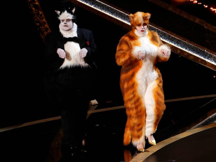 Телеведущий Джеймс Корден и актриса Робин Уилсон представляют номинацию «Лучшие визуальные эффекты»