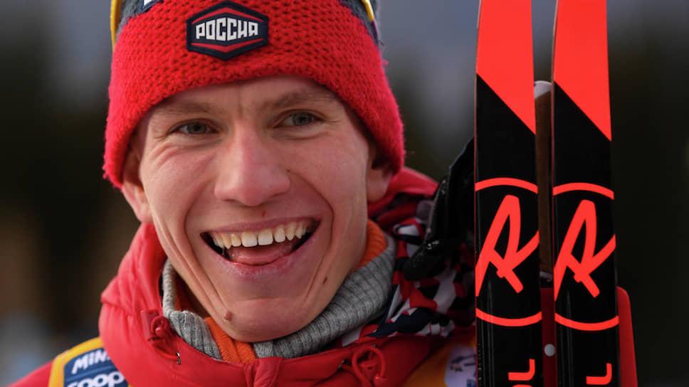 Российский лыжник Александр Большунов