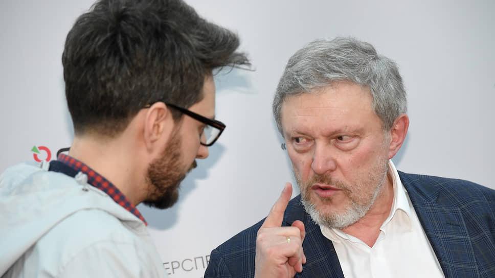 Член партии «Яблоко» Максим Кац (слева) и основатель «Яблока» Григорий Явлинский