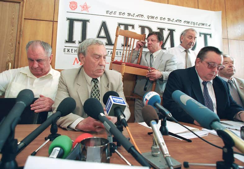 В августе 1991 года вместе с вице-президентом СССР Геннадием Янаевым (второй слева), премьер-министром Валентином Павловым (второй справа) и другими представителями высшего руководства страны, несогласными с политикой президента Михаила Горбачева, вошел в состав ГКЧП