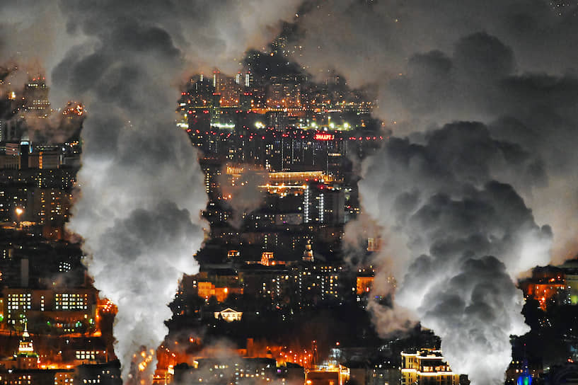 8 февраля. Москва. Вид на город c международного делового центра «Москва-Сити»