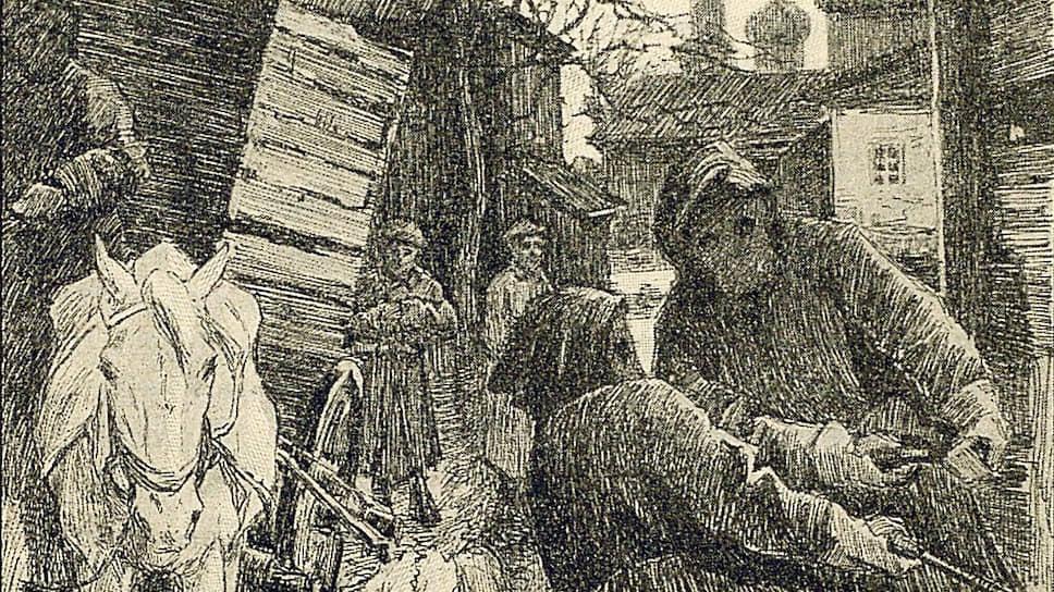 Увозивших покойников мортусов (на рисунке) москвичи опасались не меньше моровой язвы