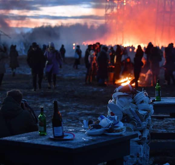 Гуляния в арт-парке «Никола-Ленивец» в Калужской области