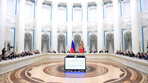 Лидеры фракций говорили с президентом только о хорошем  / Владимир Путин поблагодарил их за участие в работе над поправками и попросил продолжить ее во время второго чтения