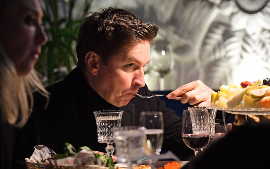 Главный редактор журнала GQ Россия Игорь Гаранин на предпремьерном показе третьего сезона американского сериала «Мир Дикого запада» в ресторане «Восход»
