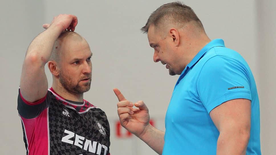 Тренеры по волейболу Алексей Вербов (слева) и Владимир Алекно