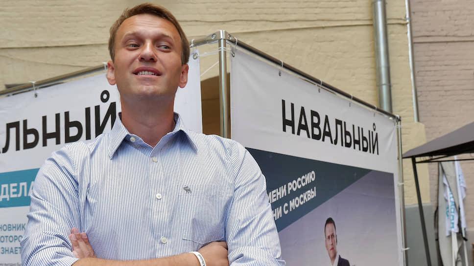 Кандидат на должность мэра Москвы Алексей Навальный в своем предвыборном штабе