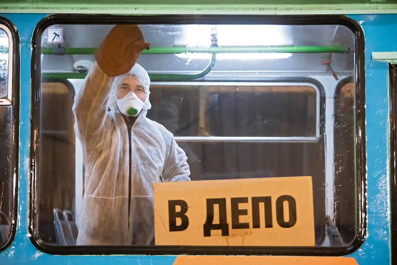 Дезинфекция общественного транспорта в Калининграде