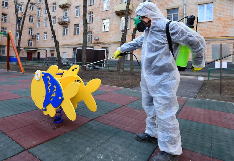 Дезинфекция детской площадки в Москве