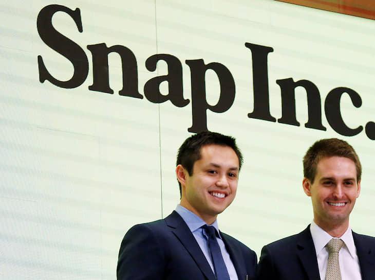 9-е место. Сооснователь приложения для обмена фото- и видеосообщениями Snapchat 31-летний Бобби Мерфи (слева) — $1,9 млрд