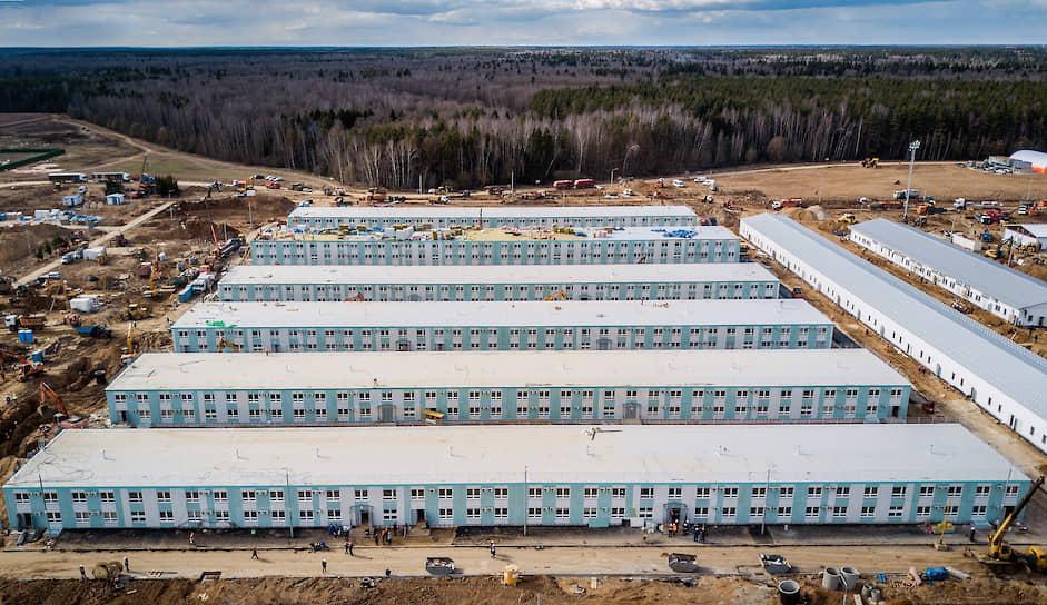 4 апреля были завершены основные строительные работы, сдать больницу планируют в течение апреля