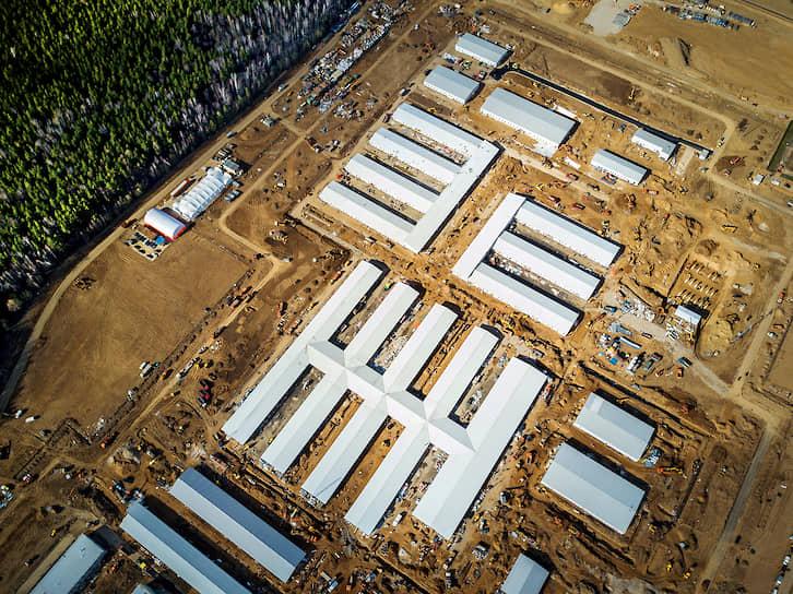 Состояние строительства на 10 апреля