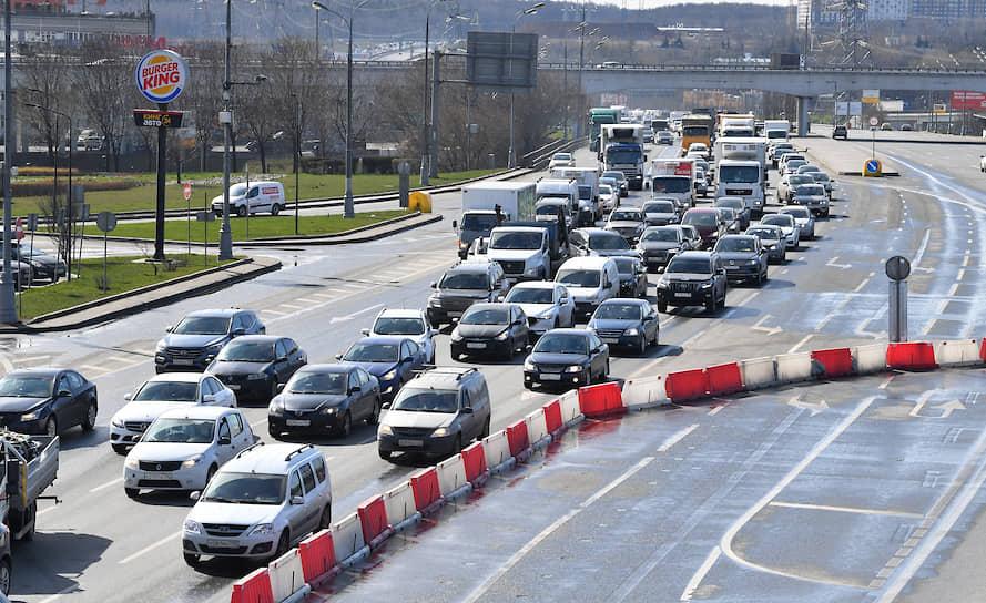 Пост ГИБДД при въезде в Москву на Варшавском шоссе