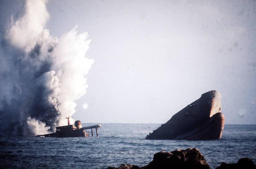 В марте 1978 года у побережья Бретани во Франции сел на мель американский танкер Amoco Cadiz. В воду вылилось 220 тыс. тонн нефти, было загрязнено около 300 км берега