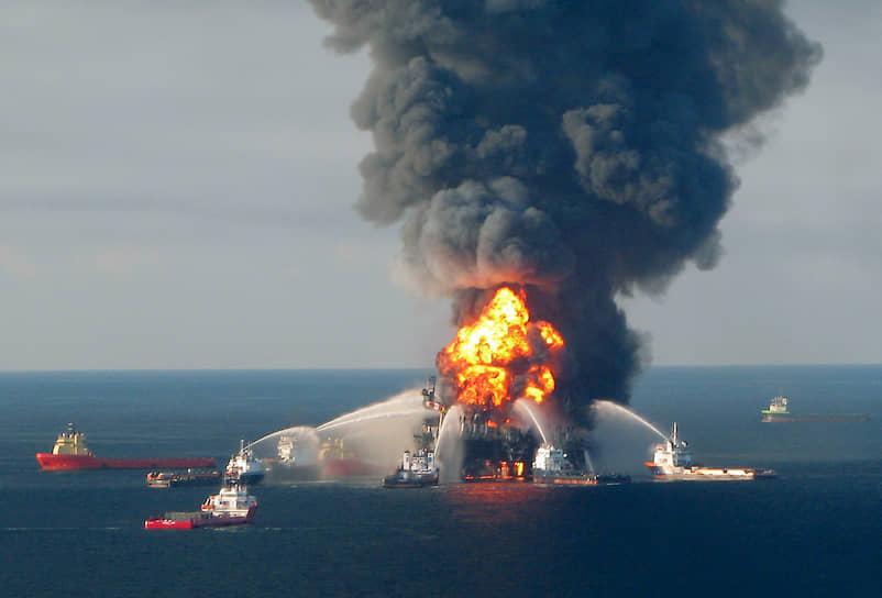 20 апреля 2010 года произошел взрыв на нефтяной платформе Deepwater Horizon в Мексиканском заливе в территориальных водах США