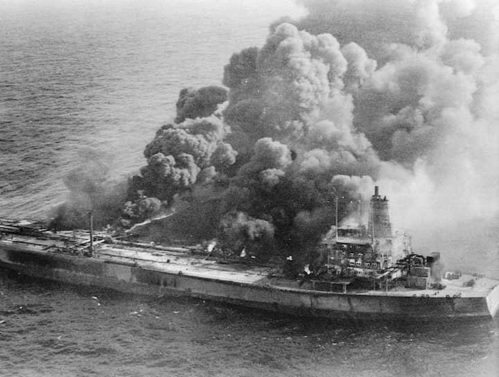 В июле 1979 года в результате столкновения танкеров Atlantic Empress и Aegean Captain в Карибском море произошла утечка 290 тыс. тонн нефти