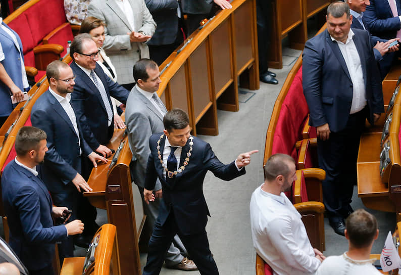 20 мая 2019 года. Церемония инаугурации.  <br>На следующий день президент Украины распустил Верховную раду, назначив внеочередные парламентские выборы