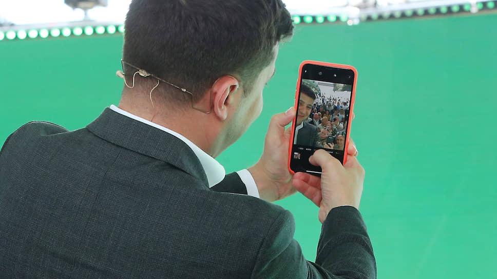 9 июня 2019 года. Президент Владимир Зеленский на съезде партии «Слуга народа» в Ботаническом саду имени Гришко
