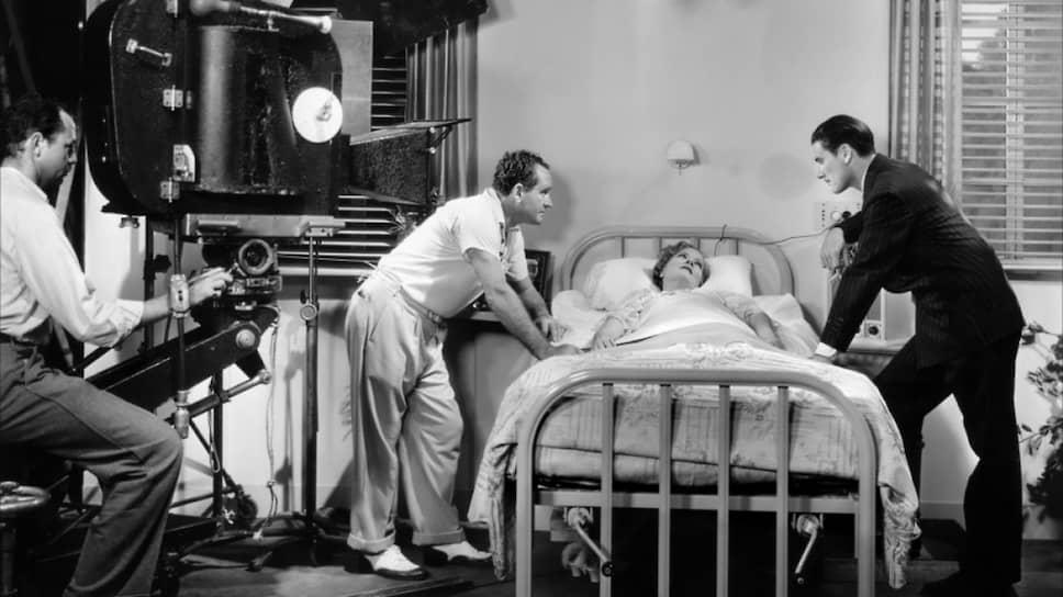 На съемках фильма «Зеленый свет» (1937 год)