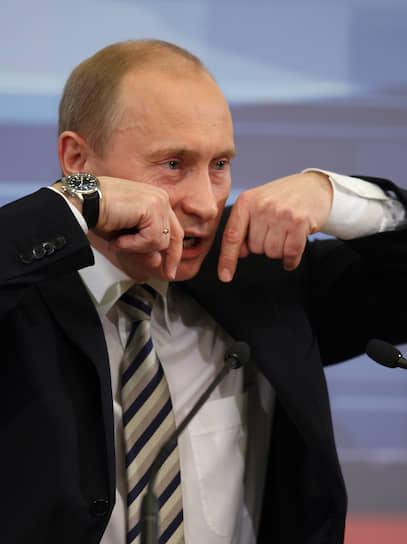 14 февраля 2008 года. На пресс-конференции в Кремле