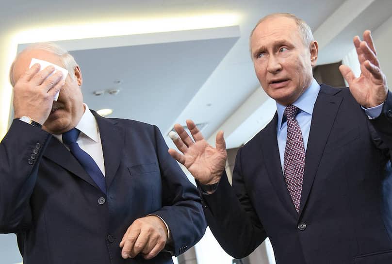 15 февраля 2019 года. С президентом Белоруссии Александром Лукашенко на встрече в Сочи