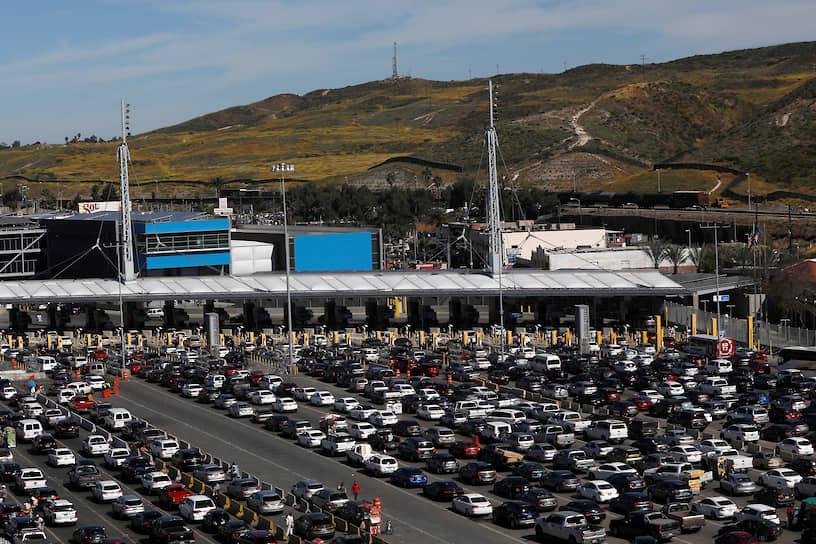 Граница США и Мексики до введения карантинных ограничений