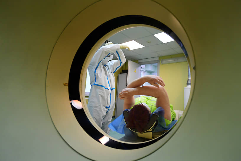 Одинцово, Московская область. «Красная зона» больницы, где принимают пациентов с коронавирусом
