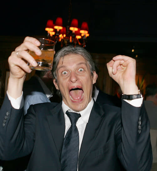 2005 год. Председатель совета директоров компании «Тинькофф» Олег Тиньков на вечеринке в клубе «ТРАМП» во время Российского экономического форума в Лондоне